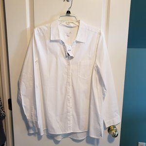 J. Jill White Button Shirt